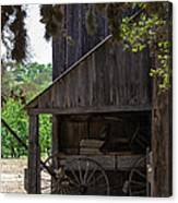 Buggy In The Barn Canvas Print