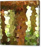 Bugs Eye View Of Garden Table Leg Canvas Print