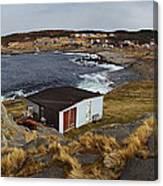 Build On Ocean Cliff Canvas Print