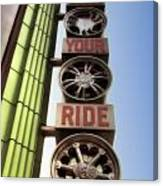 Build Your Ride Signage Downtown Disneyland 01 Canvas Print