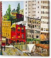 Building A City By Stan Bialick Canvas Print