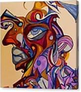 Building A Face Canvas Print