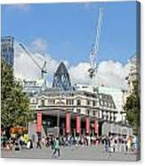 Building Work In The City Of London Canvas Print