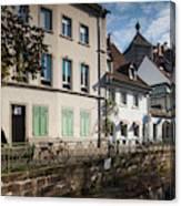Buildings Along Canal, Altstadt Canvas Print
