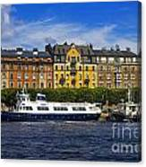 Buildings And Boats Canvas Print