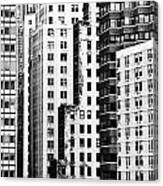 Buildings Bw Canvas Print