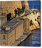 Buildings By The Mediterranean Sea Canvas Print