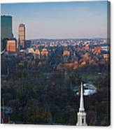 Buildings In A City, Boston Common Canvas Print