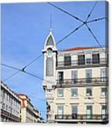 Buildings In The Chiado Neighbourhood Of Lisbon Canvas Print