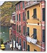 Buildings Of Vernazza Canvas Print