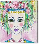 Bulgarian Follk Girl Art Canvas Print
