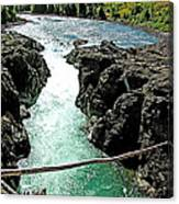Bulkley River Falls In Moricetown-bc Canvas Print