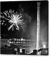 Bull Durham Fireworks Canvas Print
