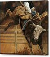 Bull Riding 1 Canvas Print