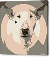 Bull Terrier Graphic 1 Canvas Print