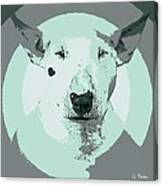 Bull Terrier Graphic 3 Canvas Print