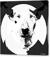 Bull Terrier Graphic 6 Canvas Print