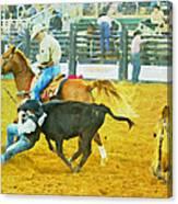 Bulldoggin Cowboys Canvas Print