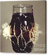 Bullet Piercing Glass Of Soda Canvas Print