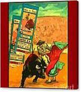 Bullfight Poster Canvas Print