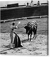 Bullfighter And The Lady Homage 1951 Bullfight Nogales Sonora Mexico Canvas Print