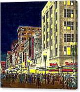 Bullock's Department Store On Broadway In Downtown Los Angeles Ca Around 1940 Canvas Print