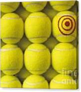 Bullseye Tennis Balls Canvas Print