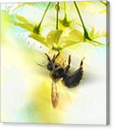 Bumble Going In For The Nectar Canvas Print