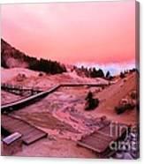 Bumpass Hell Sunset Canvas Print
