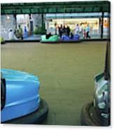 Bumper Cars At Monte Igueldo Amusement Canvas Print