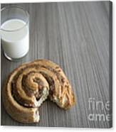 Bun And Milk Canvas Print