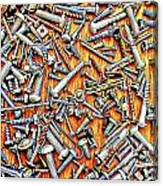 Bunch Of Screws 1- Digital Effect Canvas Print
