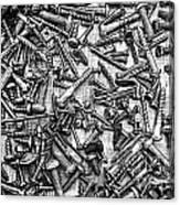 Bunch Of Screws 3- Digital Effect Canvas Print