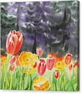 Bunch Of Tulips I Canvas Print