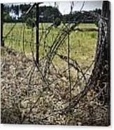 Bundled Barbed Wire Canvas Print
