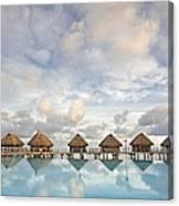 Bungalows Over Ocean II Canvas Print