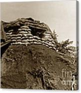 Bunker Above The Dak Poko River Near Dak To Kontum Province Vietnam 1968 Canvas Print