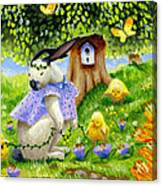Bunny Friends Canvas Print