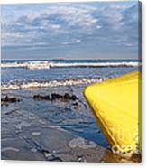 Buoy At Low Tide Canvas Print