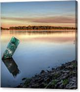 Buoy On The Bank Canvas Print