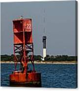 Buoy To Lighthouse Canvas Print