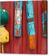 Buoys At Rockport Motif Number One Lobster Shack Maritime Canvas Print