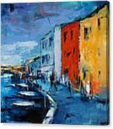 Burano Canal - Venice Canvas Print