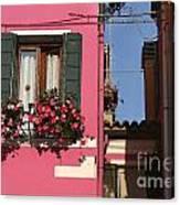 Burano Homes Canvas Print