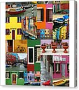 Burano Italy Poster Canvas Print