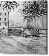 Burfordsville Bridge And Bollinger Mill Canvas Print