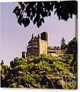Burg Katze Castle On The Rhine Canvas Print