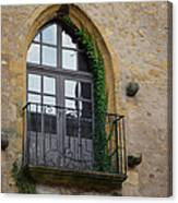 Burgundy Window Canvas Print