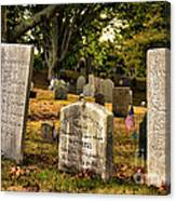 Burial Hill Cemetery-close Up Canvas Print