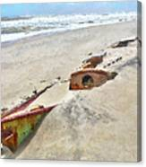 Buried Treasure - Shipwreck On The Outer Banks I Canvas Print